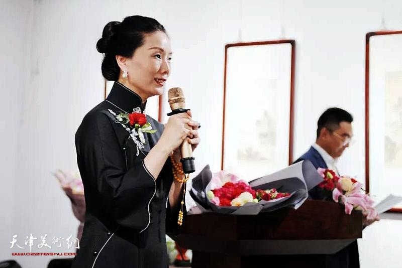 北京饭店馆藏文化董事长李静怡女士致辞。