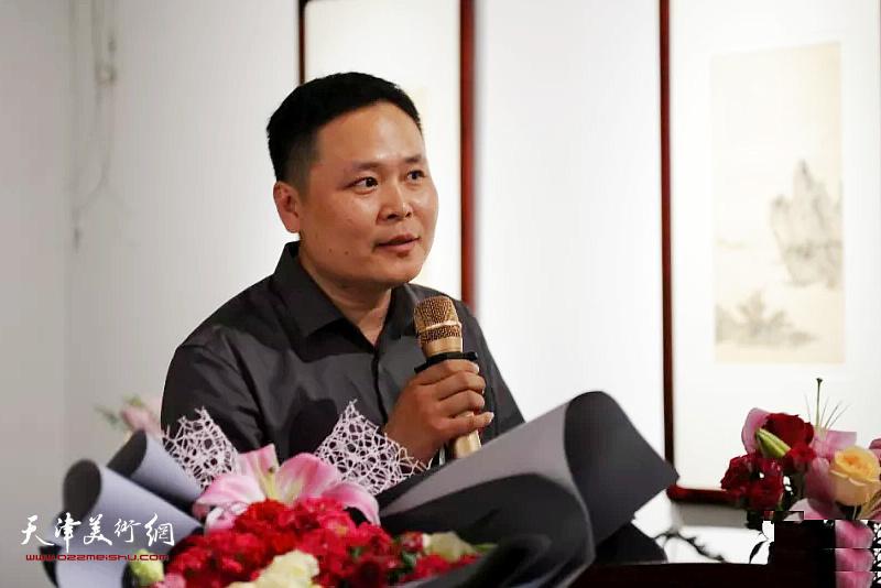 东晟艺术空间馆长、策展人金冬冬致辞。