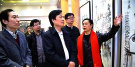 张大功书画作品展在天津一鉴楼文化会馆举办