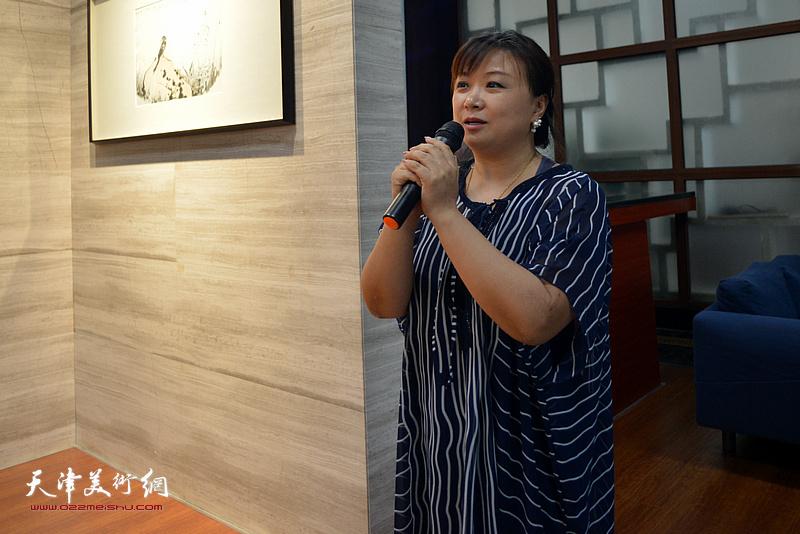 天津九思文化传播有限公司总经理于晓鸿致辞。