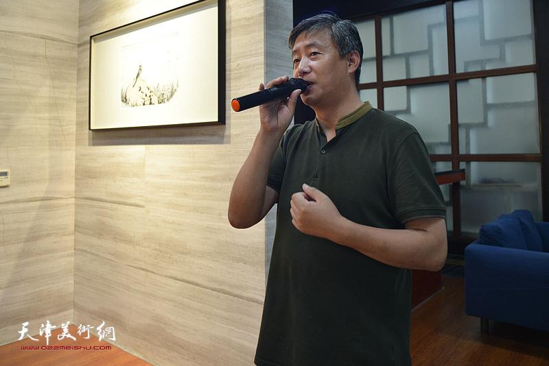 天津谦成文化总经理高文清致辞。