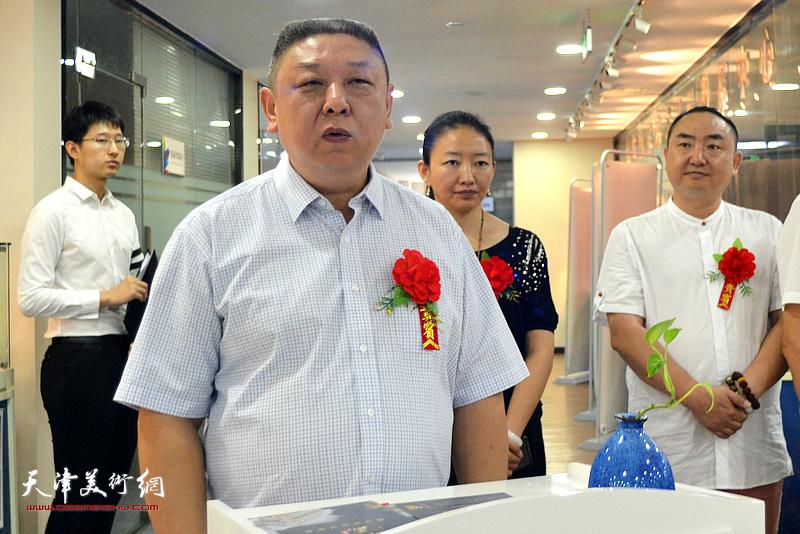 平定鼎裕紫砂总经理、天津市工艺美术大师杨皓然致辞。