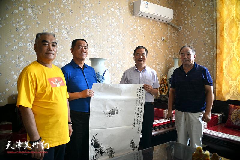 邢立宏、王树江、林德谦、李建华在文化交流活动现场。