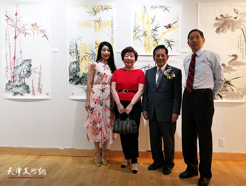 左起:李兰(天津籍)、郭儒祯、陈汉忠、柴寿武