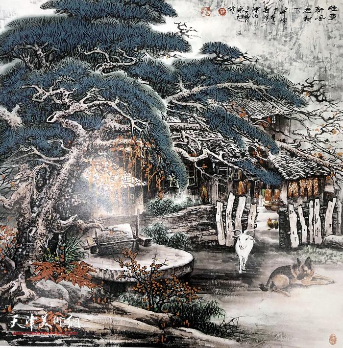 郭永元作品:往事新风老树下