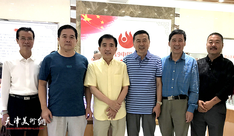 郭学波、王文元、王润莱、郭刚、马玉顺等等在展览现场。