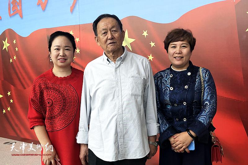蒋子龙先生与孙娟、甄永清在活动现场。