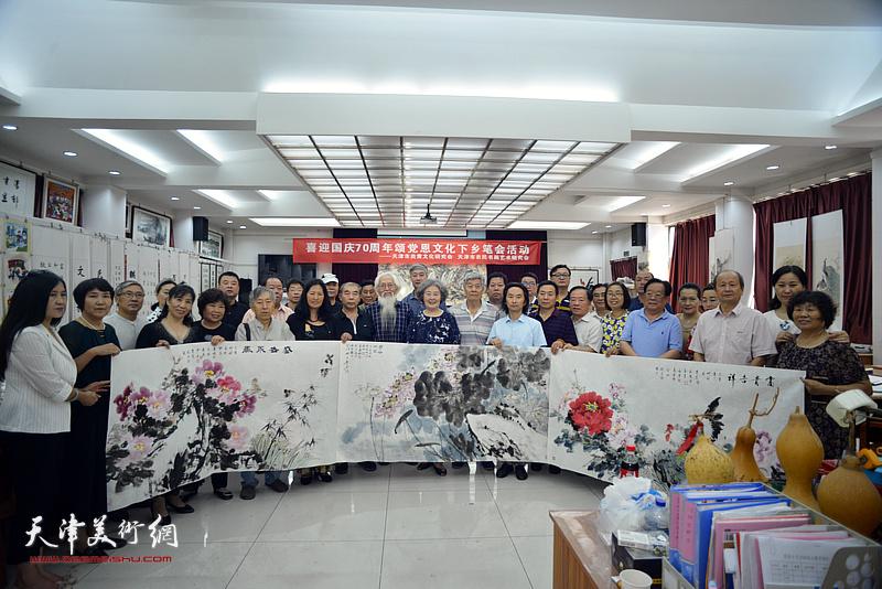 津门书画家在国画之乡邓店村参加中国农民丰收节庆祝活动