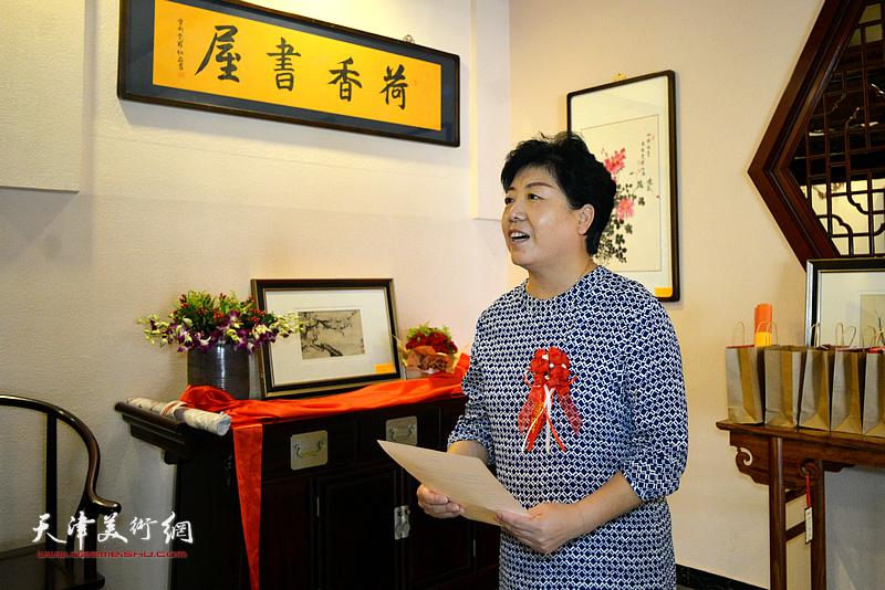 津南区政协副主席、津南区文化和旅游局局长刘颜明到会致贺。