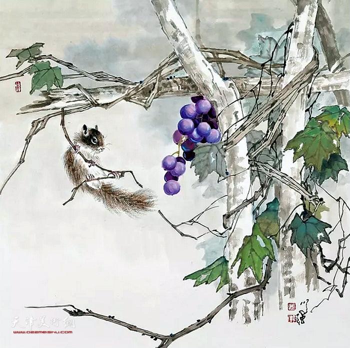 张学强花鸟画
