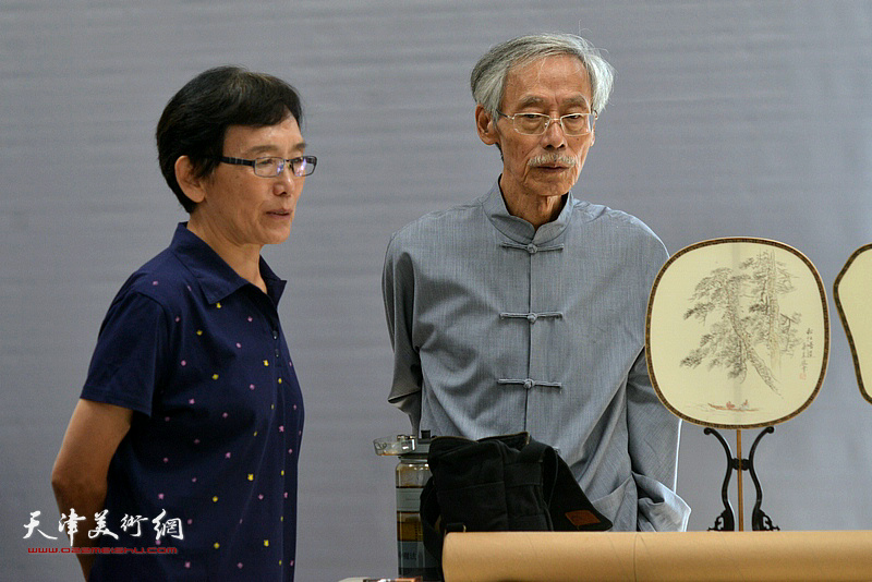 姚景卿、萧惠珠在联谊活动现场。