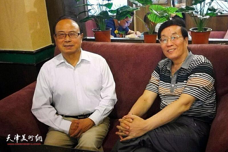 杜仲华采访谭汝为。