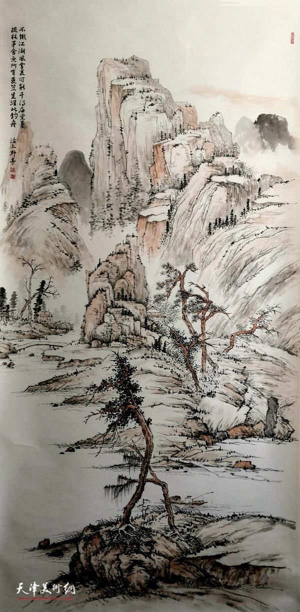 杨维画作。
