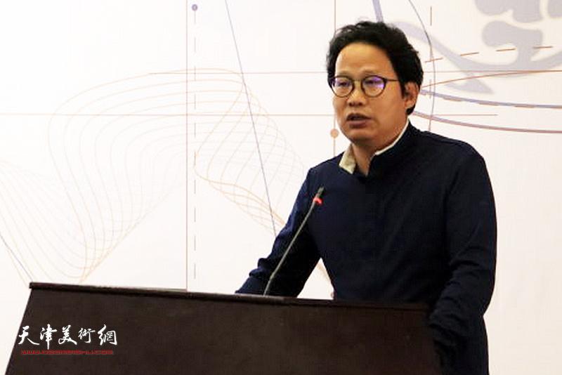 地津科技大教艺术设计教院院长助理郭铁军副教授致辞