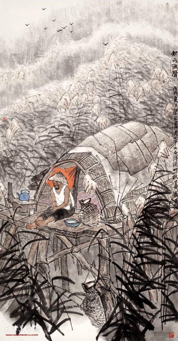 刘学民作品:秋水渔声