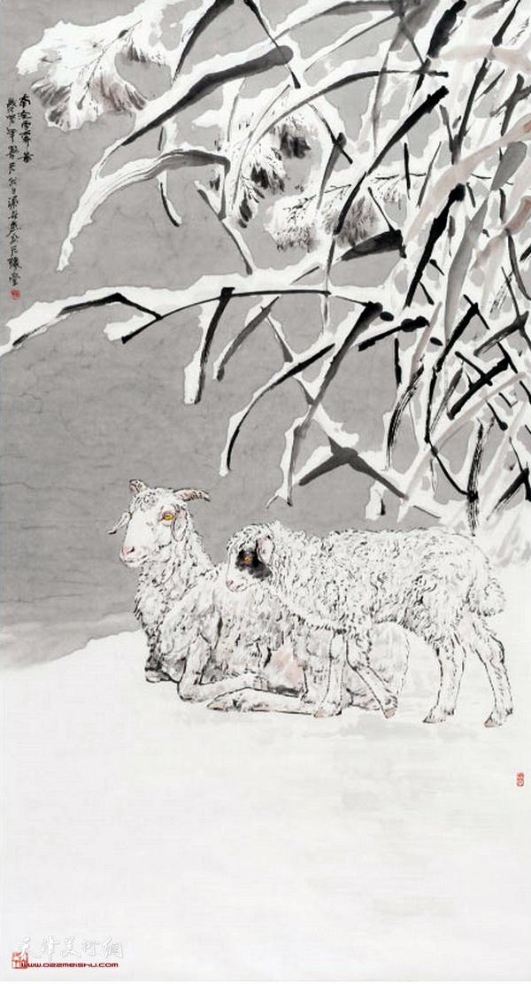 金涌炎作品:南淀雪霁图