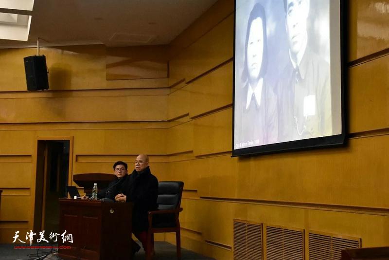 """著名油画家王玉琦先生""""画家——我的生活""""主题讲座12月12日晚在天津美术学院举办。"""