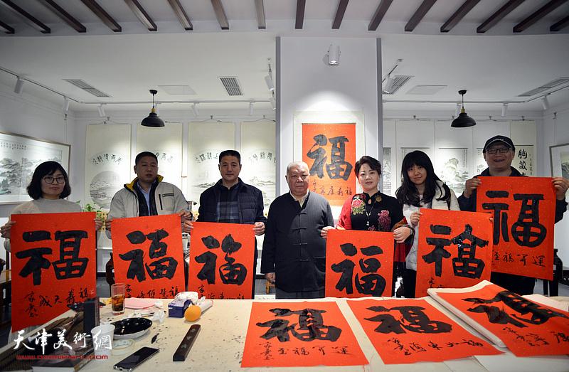李家尧先生荣宝斋(天津杨柳青店)慈善书画笔会活动