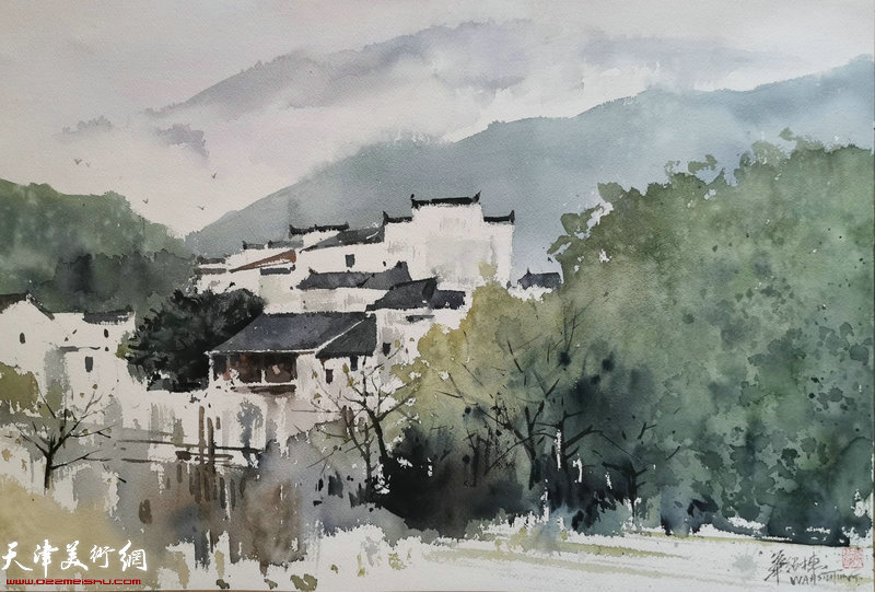 华绍栋水彩画作品