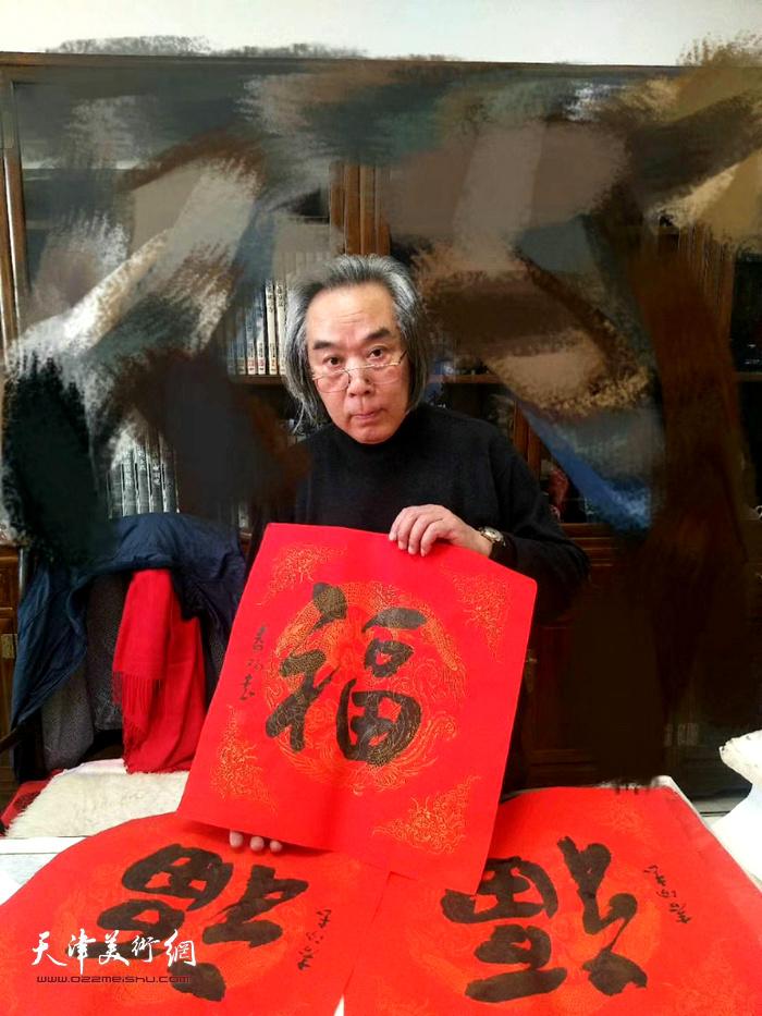 霍春阳先生祝天津美术网广大读者2020年新年快乐!