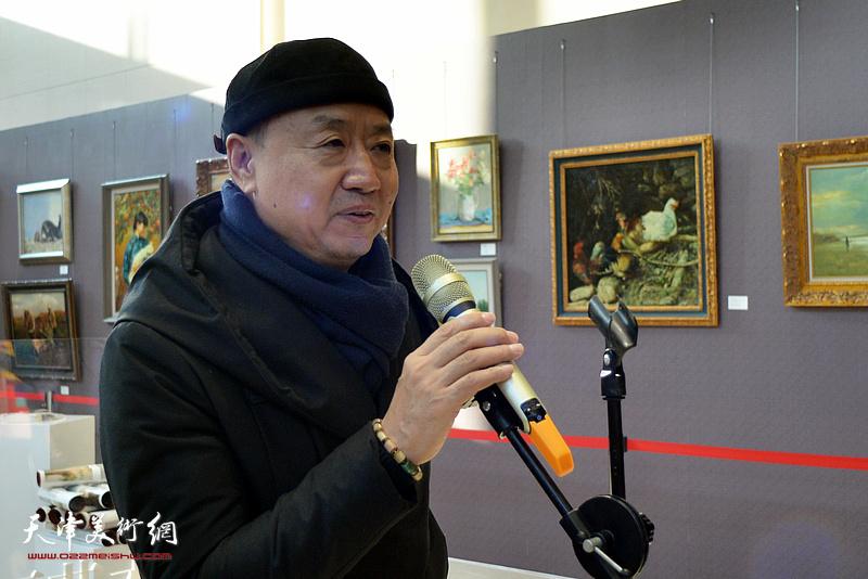 天津美术学院教授,著名画家李旺致辞。