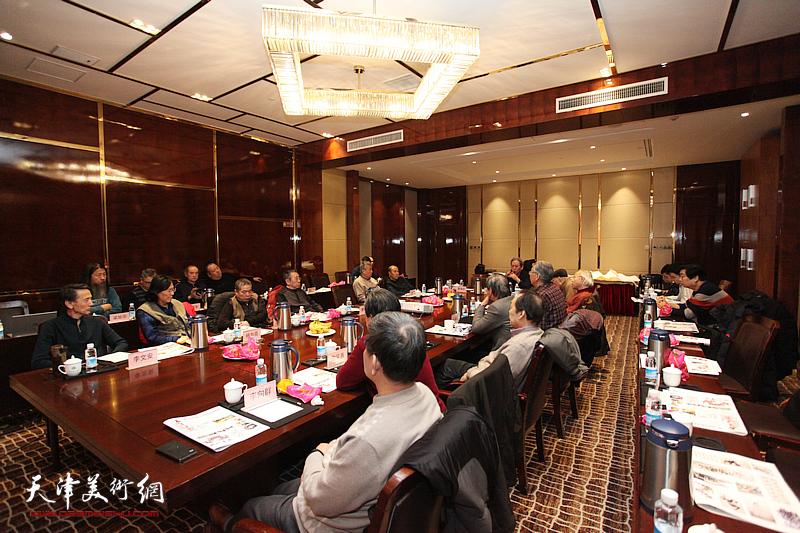 天津政协之友书画院、长城书画院迎新春座谈会在津利华大酒店举行。