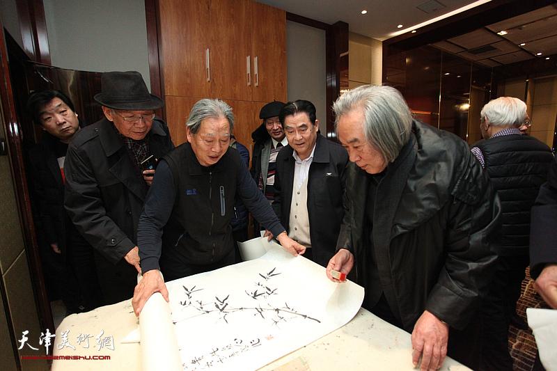 天津政协之友书画院、长城书画院迎新春座谈会