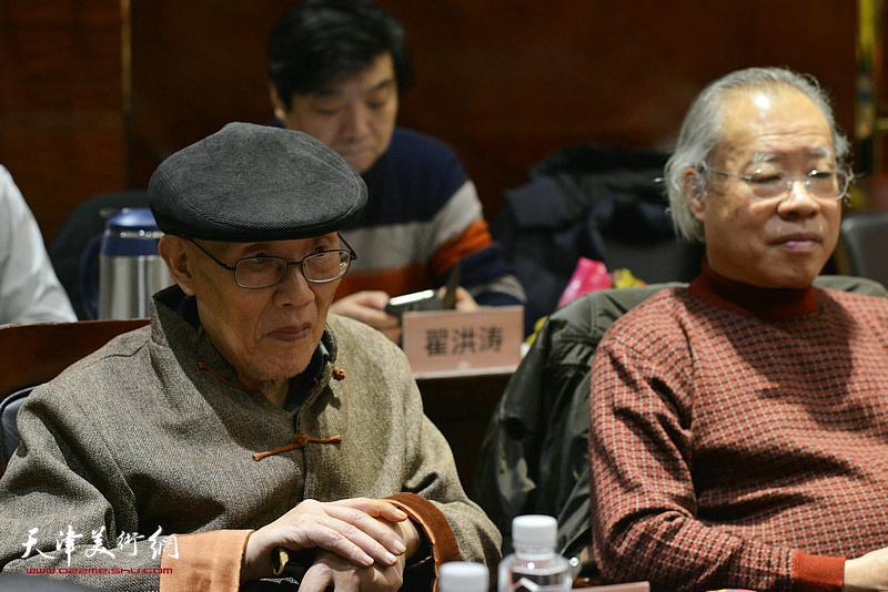 孙长康、王金厚在座谈会上。