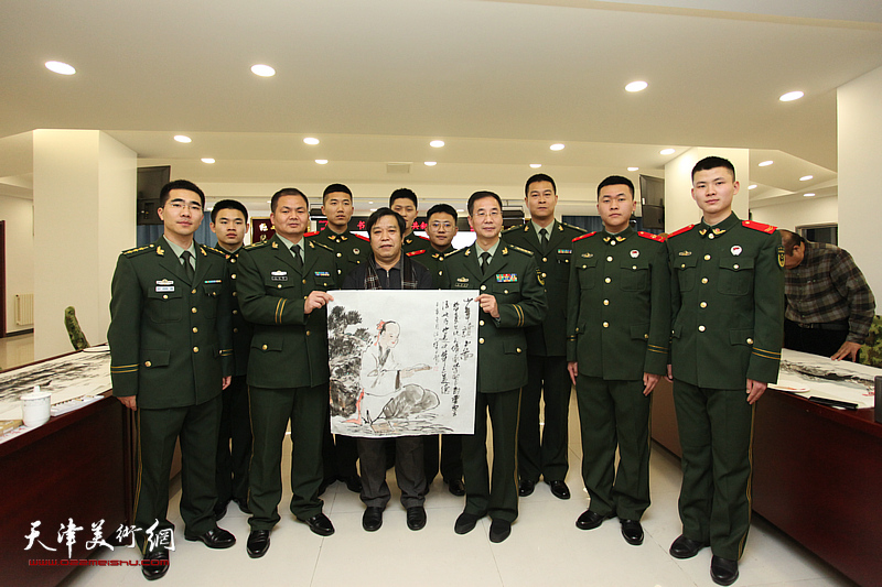 天津市美术家协会新时代红色文艺轻骑兵送文化到军营