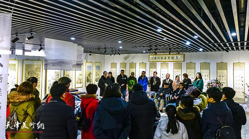 """""""杨维书画篆刻作品展""""2020年1月12日在中冶·和悦艺术馆开幕。"""