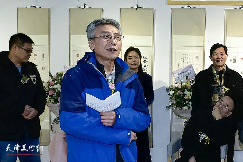 艺术家杨维先生致答谢词