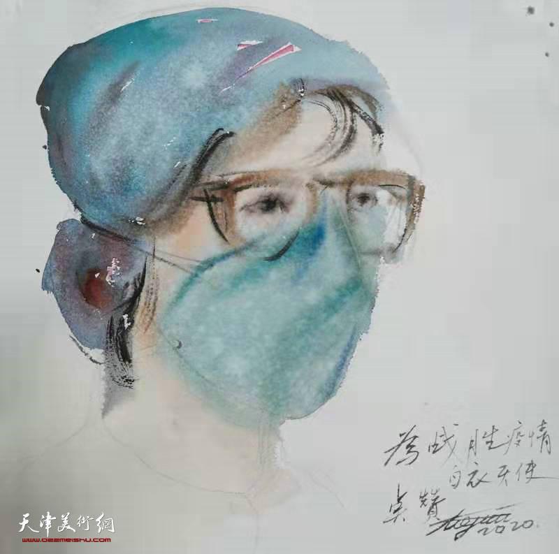 """天津市河西区美协""""凝聚力量 抗击疫情""""美术作"""