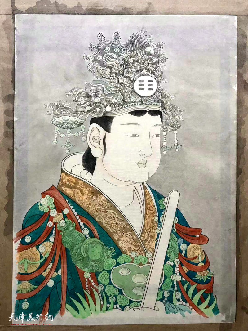 趙新立仿永樂宮壁畫畫稿