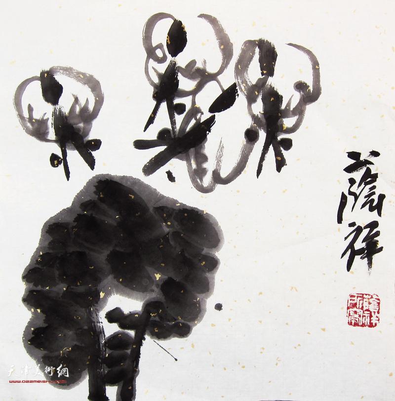 劉蔭祥作品:花與蝶
