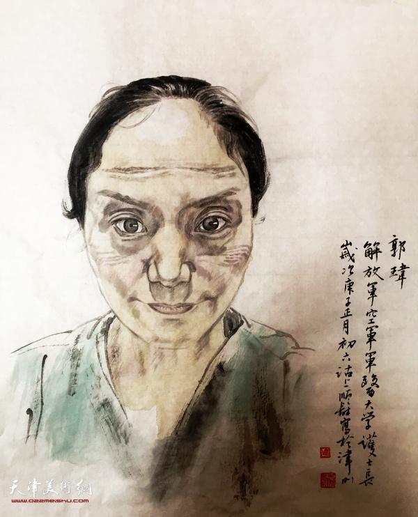 名称:抗疫最美天使护士长郭玮  作者:杨顺和