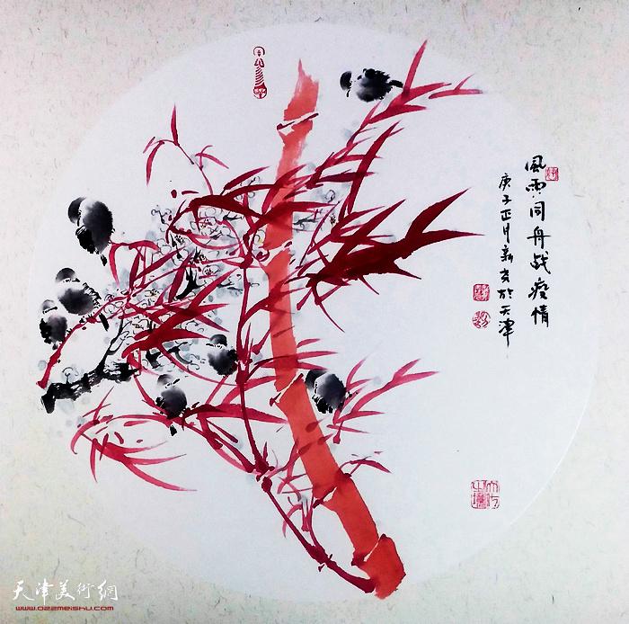 名称:风雨同舟战疫情  作者:刘新尧