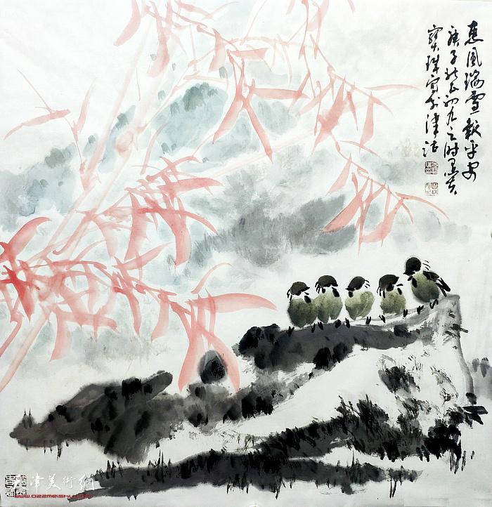 名称:惠風瑞雪報平安 作者:吕宝珠