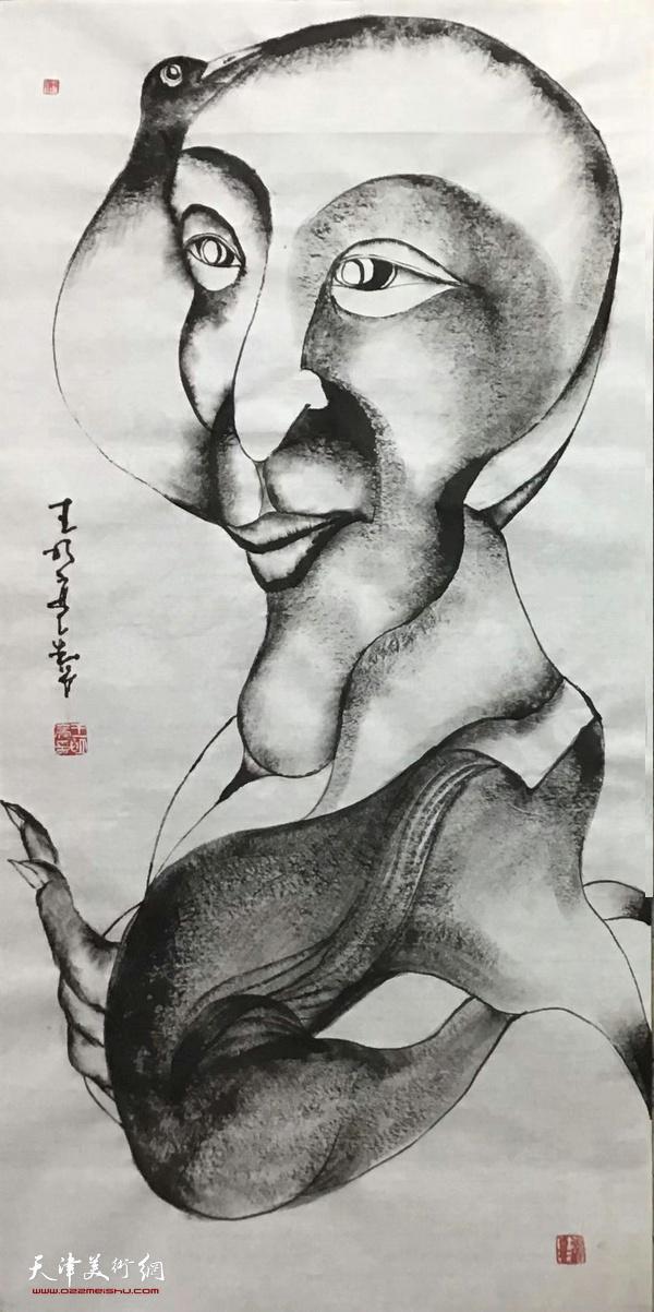 藝術家王明亮無名畫系新作