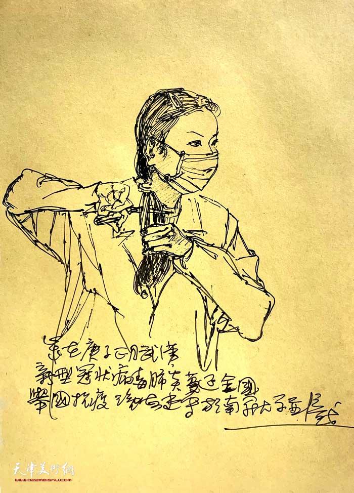 尹沧海抗疫速写:女护士