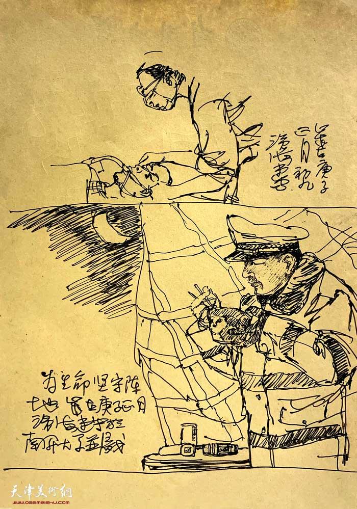 尹沧海抗疫速写:医生和警察