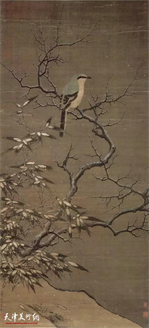 宋 李迪 《雪树寒禽图》