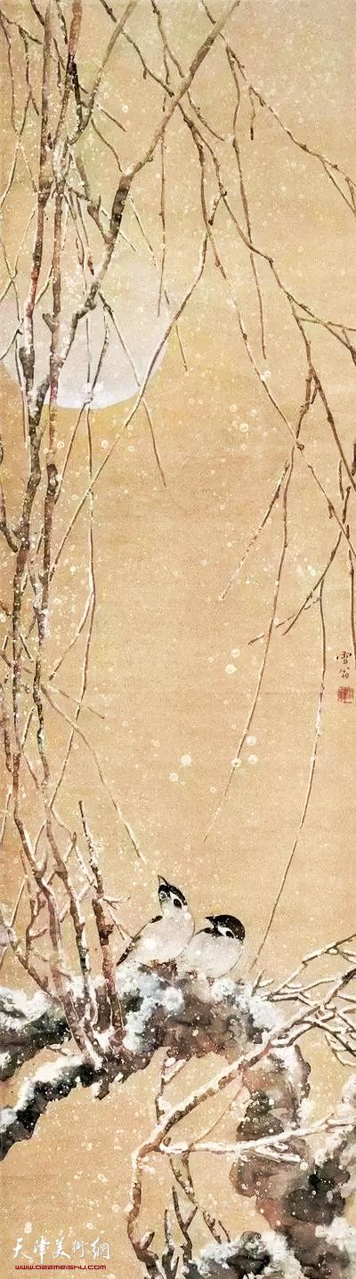 近代 陈之佛 《雪月》