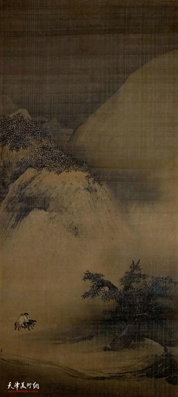 南宋 梁楷 《雪景山水图》