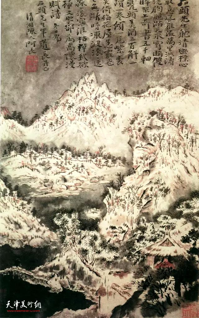 清 石涛 《雪景山水图》