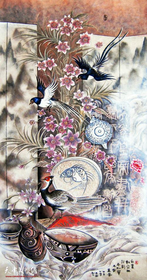 万志新作品:《平安中国》 中国画