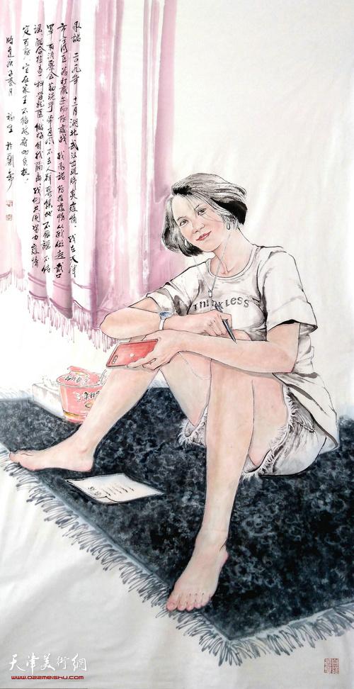李福生作品:《承诺》  中国画