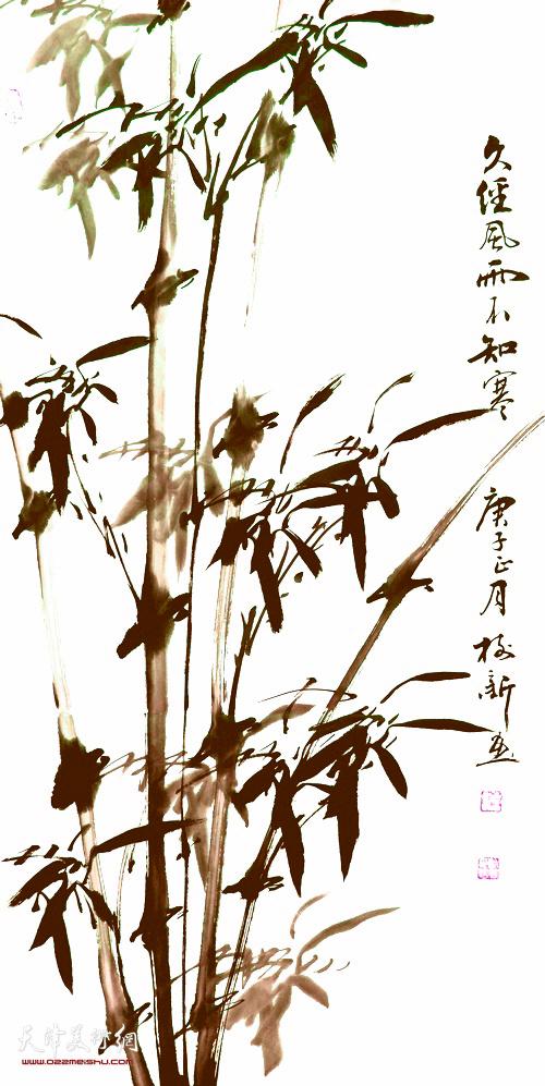 杨树新作品:《久经风雨不知寒》 中国画