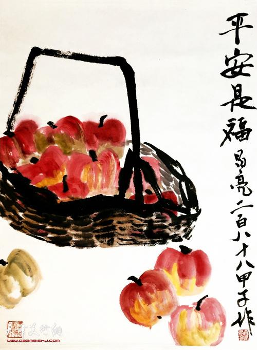 李昌亮作品:《平安是福》  中国画