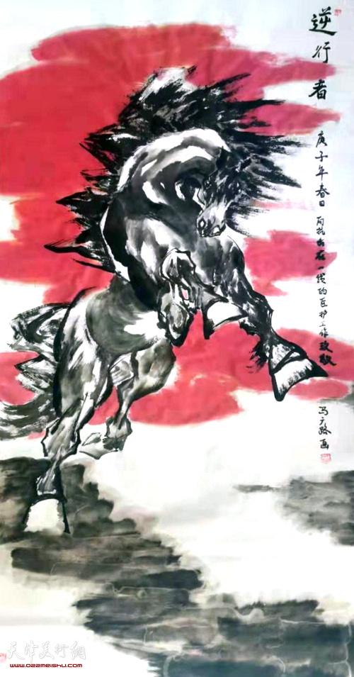 马广顺作品: 《逆行者》   中国画