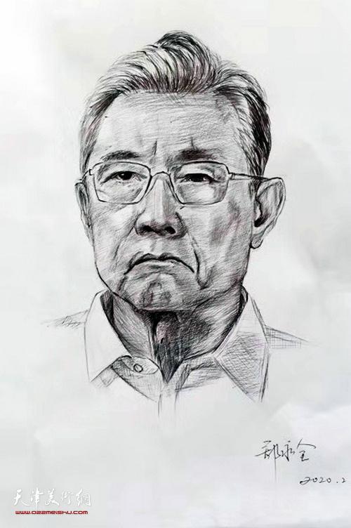 郑永全作品:《钟南山院士》 素描